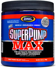 Superpump Max Fruit Punch <p><b>From the Manufacturer's Label </b></p> <p>Superpump Max Fruit Punch is manufactured by Gaspari Nutrition®.</p>    5.5 oz Powder  $14.99