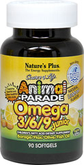 Animal® Parade Omega 3-6-9 Junior <b><p>From the Manufacturer:</b></p><p>•Builds a strong nutritional foundation for with superior quality omega-3, omega-6 and omega-9 fatty acids.</p> <p>•Supplying Essential and Other Healthful Fatty Acids</p> <p>•Borage/Flax/Olive/Fish Oil</p> <p>•Non-GMO & Gluten Free</p>  90 Softgels  $17.99