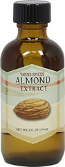 Almond Extract <strong></strong><p><strong>From the Manufacturer's Label:</strong></p>Strong, sweet, and nutty in flavor, use small amounts to flavor cookies, bars, shortbread, cheesecake, and other baked goods. Pairs well with cherries, apricots, pears, chocolate, and caramel.<br /> 2 fl oz Liquid  $6.99