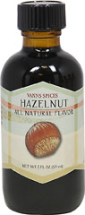Hazelnut Flavor Extract <strong></strong><p><strong>From the Manufacturer:</strong></p>Add to brewed coffee or spray onto beans before grinding. Popular in cakes, cookies, frostings and ice cream.    2 fl oz Liquid  $8.99