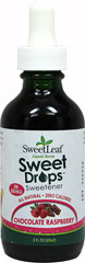 Stevia Liqud Extract Chocolate Raspberry <p><b>From the Manufacturer's Label:</b></p> <p>Stevia Liquid Chocolate Raspberry is manufactured by Sweet Leaf.</p> 2 oz Liquid  $10.99