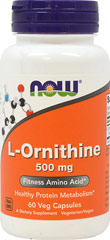 L-Ornithine 500 mg <p><strong>From the Manufacturer's Label:</strong></p><p><strong>Healthy Protein Metabolism**</strong></p><p>Ornithine is a non-essential amino acid that plays a central role in the urea cycle, functioning along with Arginine and Citrulline to rid the body of ammonia, a byproduct of protein metabolism. Because Ornithine is converted into Arginine, it can help to maintain healthy Arginine levels in the body.** Ornithine