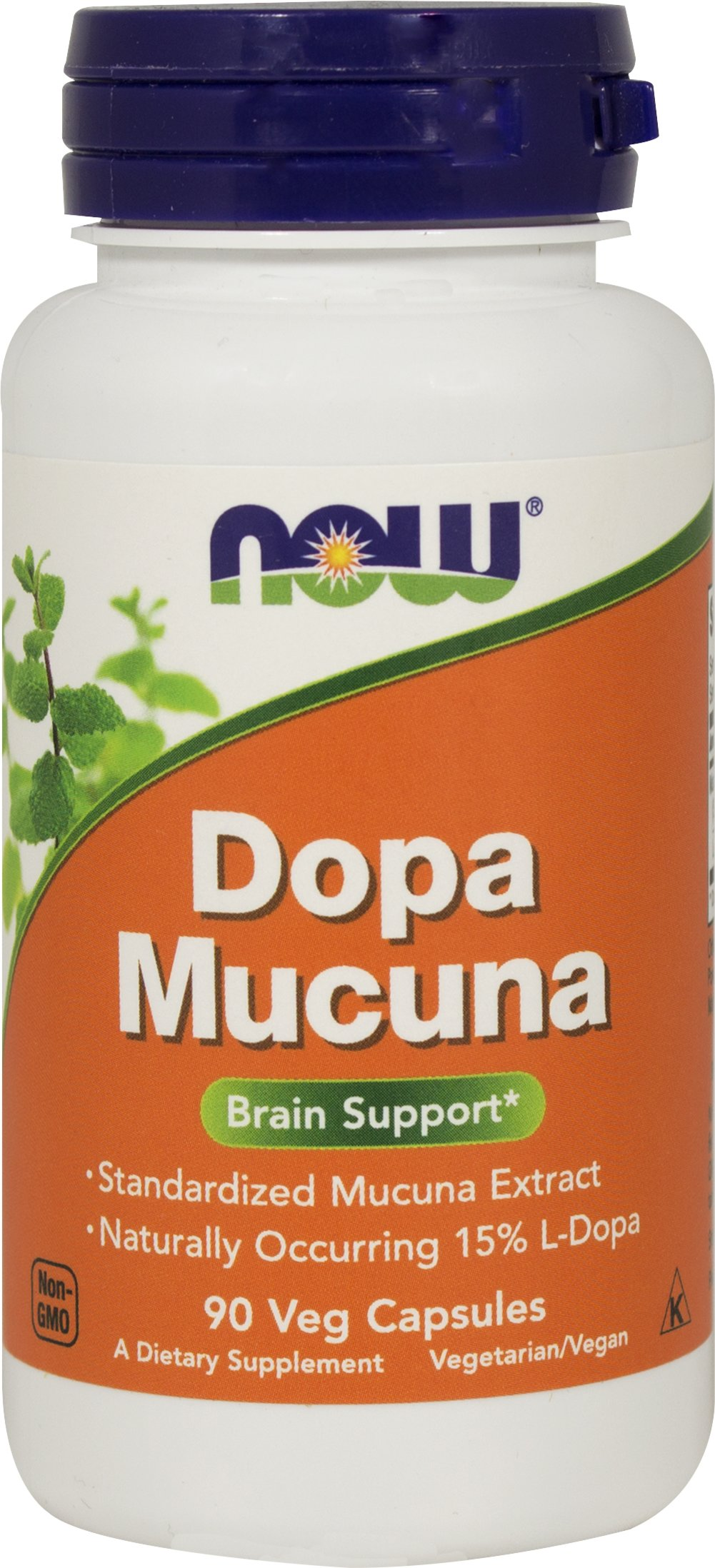 DOPA Mucuna 400 mg <p><b>From the Manufacturer's Label:</b></p>  <p><b>Standardized Velvet Bean Extract</b></p> <p><b>Mucuna pruriens</b></p>  Mucuna pruriens, commonly known as Velvet Bean, has been used in the traditional Ayurvedic system in India for thousands of years. NOW® DOPA Mucuna is 100% vegetarian**.</p> <p>Manufactured by Now® Foods</p>  90 Vegi Caps 400 mg $11.49