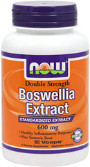 Boswellia 600 mg Standardized Extract <p><b>From the Manufacturer's Label:</b></p><p><b>Healthy Inflammatory Response**</b></p><p><b>Plus Turmeric Root</b></p><p>NOW® Boswellia Extract is standardized to contain min. 65% Boswellic Acids, the active constituents of the herb Boswellia serrata, also known as Frankincense. Boswellia's properties have been known to herbalists and prized since antiquity and rece
