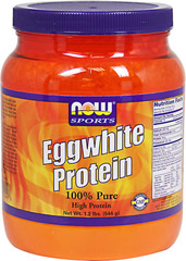 Eggwhite Protein <p><strong>From the Manufacturer's Label:</strong></p><p>Eggwhite Protein from NOW® is an excellent natural source of high quality protein. Good quality proteins contain virtually no fat or carbohydrates and rate well on the PDCAAS (Protein Digestibility Corrected Amino Acid Score), the newest and most accurate measurement of a protein's quality. NOW® Eggwhite Protein contains < 1 g of fat and carbohydrates per serving and rates