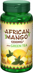 African Mango Extract plus Green Tea <p>African Mango is a bright green fruit traditionally used in Nigerian and Cameroonian cuisine. African Mango is valued for its nuts, known as ogbono, etima, odika or dika nuts.  These capsules contain 1200 mg of African Mango* Incudes Green Tea, which naturally contains flavonoids for overall wellness**  Rapid release capsules disperse quickly into your system. </p><p>* From 300 mg of 4:1 extract.     </p><p></p><p>