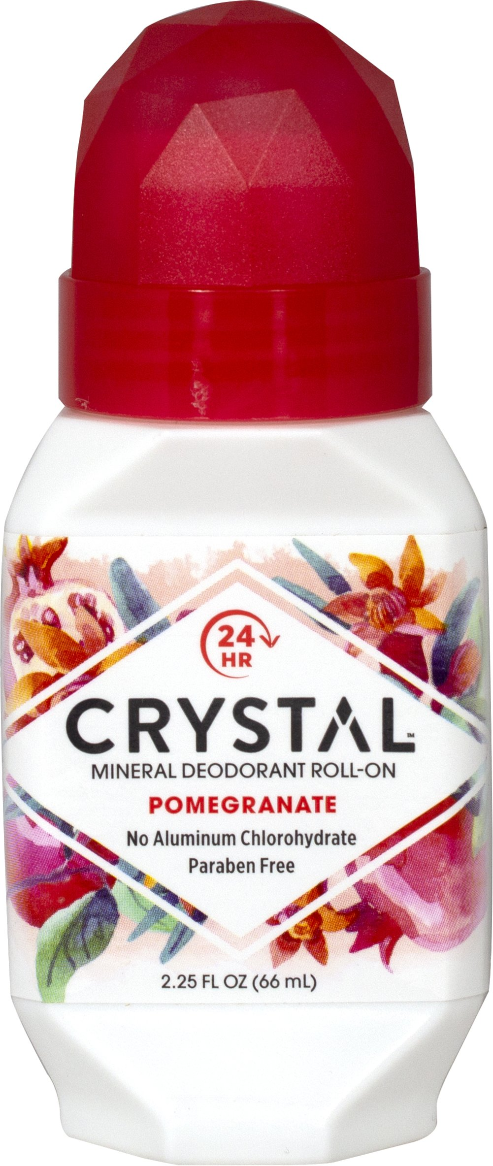 Crystal® Pomegranate Mineral Deodorant Roll-On <p><strong>From the Manufacturer's Label:</strong></p><p>Paraben Free</p><p>Hypoallergenic</p><p><strong>Natural Deodorant Protection</strong></p><p>Crystal essence™ Pomegranate, made of natural mineral salts and infused with the refreshing aroma of pomegranate, creates an invisible protective barrier against odor-causing bacteria.  Pomegranate is an antioxidant.