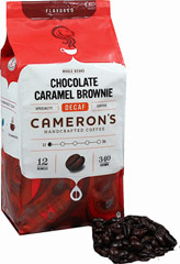 Chocolate Caramel Brownie Decaf Whole Bean Coffee <p><b>From the Manufacturer''s Label:</b></p> <p><b>Made from 100% Arabica Beans, Kosher</b></p> <p><b>Flavor:</b> A union of rich chocolate mocha and velvety caramel</p> <p><b>Freshness:</b> Exclusive packaging insures maximum freshness.</p> <p>Nothing is as extravagant as sipping on a steaming mug of Chocolate Caramel Brownie. Anyone wi