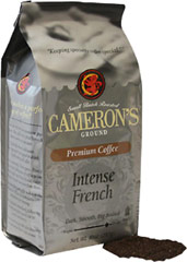 Intense French Ground Coffee <p><strong>From the Manufacturer's Label:</strong></p><p>A coffee for true coffee lovers, Intense French Roast premium coffee has a striking, robust, nearly bittersweet flavor that you won't soon forget. The most flavorful Arabica beans, carefully blended and roasted in small batches, and rushed fresh to you for a truly wonderful cup of coffee.</p> 10 oz Bag  $5.84