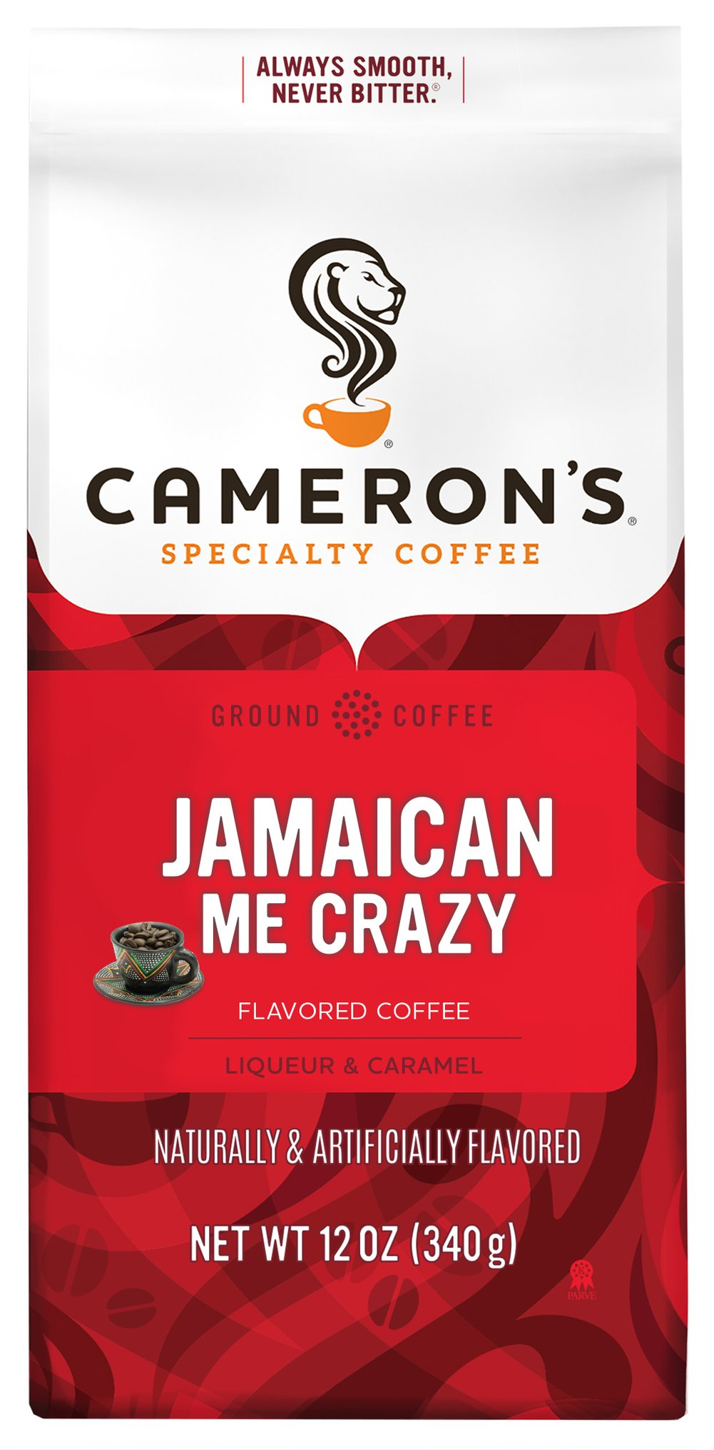 Jamaican Me Crazy Ground Coffee <p><strong>From the Manufacturer's Label:</strong></p><p><strong>Made from 100% Arabica Beans, Kosher</strong></p><p><strong>Flavor:</strong> Caramel, vanilla and Mexican liqueor</p><p><strong>Freshness:</strong> Exclusive packaging insures maximum freshness.</p><p>Jamaican Me Crazy a perfect combination of caramel, vanillla and Mexican liqueor. Our Arabica be