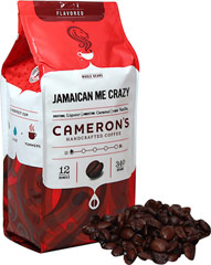 Jamaican Me Crazy Whole Bean Coffee <p><strong>From the Manufacturer''s Label:</strong></p><p>Jamaican Me Crazy coffee is a perfect combination of Arabica beans are carefully selected from around the world, precisely blended and roasted in small batches, and brought directly to you for the purest, freshest flavor.</p> 12 oz Bag  $15.99