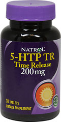 5-HTP TR 200 mg <p><b>From the Manufacturer's Label:</b></p>  <p><b>Promotes Positive Moods**</b></p>  <p>Natrol® 5-HTP TR is 100% vegetarian and has a controlled delivery system that releases 5-HTP slowly. </p>  <p>Manufactured by Natrol®</p> 30 Tablets 200 mg $14.99