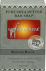 Out of Africa® African Black Soap <p><strong>From the Manufacturer's Label:</strong></p><p><strong>20% Unrefined Shea Butter</strong></p><p><strong>Shea Butter Hand Made in West Africa</strong></p><p>All Shea Butters are not created equal:  </p><p>- Our products are made with 20% pure, unrefined Shea Butter that keeps all the moisture intact and are naturally rich in vitamins A, E and F. </p><