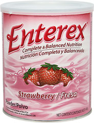 Enterex Complete Nutrition Strawberry <p><b>From the Manufacturer's Label:</b></p> <p>Enterex Complete Nutrition is manufactured by Enterex.</p>  <p>Available in Strawberry and Vanilla flavors.</p> 400 g Powder  $7.99
