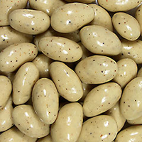 Egg Nog Almonds <p><strong>From the Manufacturer:</strong></p><p>My, oh my! Lightly roasted almonds drenched with white chocolate pepped up with traditional eggnog flavoring. Just think of that rich, thick, creamy texture and taste you know and love. Simply Divine.</p> 8 oz Bag  $8.99