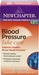 Blood Pressure Take Care <b><p> From the Manufacturer: </b></p><p>New Chapter's Blood Pressure Take Care targets multiple pathways to safely maintain blood pressure already within normal levels.** </p><p> It modulates multiple important metabolic functions, including the angiotensin converting enzyme (ACE) and endothelial nitric oxide synthase (eNOS); the enzyme that produces nitric oxide. **</p> 30 Capsules  $28.99