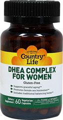 DHEA Complex For Women <p><strong>From the Manufacturer's Label:</strong></p><p>Includes traditional balancing herbs**</p><p>Supports graceful aging**</p><p>DHEA Complex for Women is manufactured by Country Life.</p> 60 Vegi Caps  $11.39
