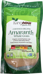 Organic Amaranth Grain <strong></strong><p><strong>From the Manufacturer:</strong></p><p>Amaranth has the highest protein content of all the grains and is a good source of calcium, fiber and iron. </p><p>Its taste is slightly sweet with a mild nutty flavor and is perfect when combined with rice or buckwheat or eaten alone.</p> 1 lb Bag  $8.99