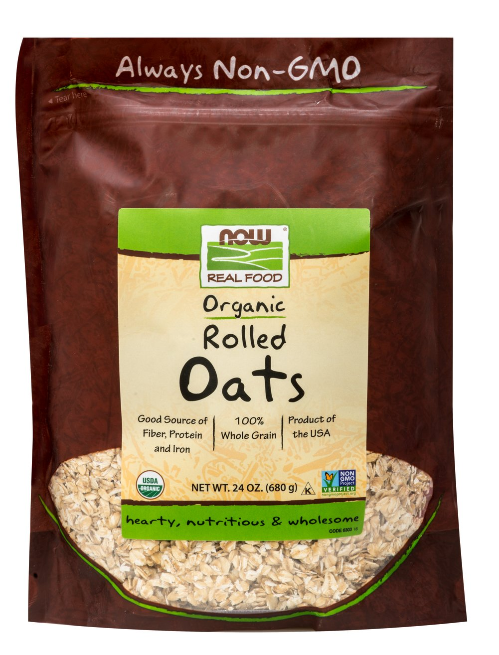 Organic Rolled Oats <b><p>From the Manufacturer: </b></p><p>Rolled oats are a favorite whole food than can be used in many recipes to add nutritional value. Rolled oats can be easily added to miffin mixes, pancake batter, cookie mixes and more. Contains 100% organic regular rolled oats.</p>  24 oz Bag  $7.99