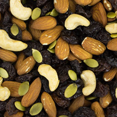Almond Supreme Mix Delightful combination of sweet fruit and the finest almonds-- Almonds, Blanched Almonds, Black Raisins, & Golden Raisins 12 oz Container  $9.99