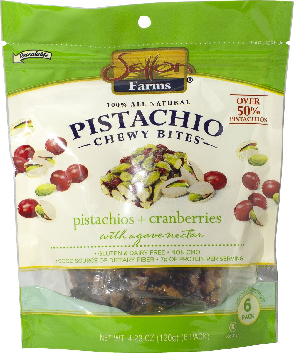 Pistachio Cranberry Chewy Bites <strong></strong><p><strong>From the Manufacturer:</strong></p><p><strong>Pure. Simple. Nutritious</strong></p><p>With three main ingredients, Pistachio Chewy Bites give you the amazing benefits of pistachios, cranberries and agave nectar in a bite-sized nutritious snack.  Each bite is individually wrapped, keeping them fresh and making them a convenient on-the-go snack.</p><br /> 4.23 o