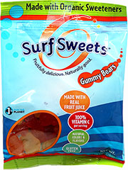 Surf Sweets Organic Gummy Bears <b><p> From the Manufacturer: </b></p><p>Traditional, chewy-style gummy bears, now made without corn syrup. Bright, clean, yummy flavors. Made with organic sweeteners.</p> 2.75 oz Bag  $1.89