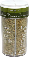 Bread Dipping Seasoning <b><p>From the manufacturers label:</b></p> <p>The essence of four regions of Italy famous for their flavorful cuisines is captured in this collection of four distinct blends of seasonings. Presented in the large signature, four compartment jar, Sicilian Blend(Traditional), Tuscany Blend(Sundried Tomato & Basil), Parmesan Blend(Roasted Garlic & Cheese) and Rosa Maria Blend(Rosemary & Garlic). Blend with Cold Pressed Extra Virgin O