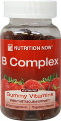 B Complex Gummy Vitamins <strong></strong><p><strong>From the Manufacturer's Label:</strong></p><p>B Complex Gummy Vitamins adult formula is an excellent source of B-6 and B-12.  Naturally flavored strawberry gummy vitamins.</p> 70 Gummies  $8.99