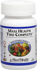 Maxi Health Two Complete™ Multivitamins & Mineral <b><p>From the manufacturer's label:</b></p> <p>Maxi Health® Two Complete™  is a two a day multivitamins & Mineral supplement.</p> 60 Capsules  $12.85