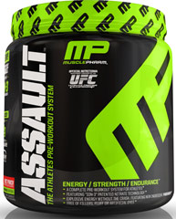 Assault™ Pre Workout Fruit Punch <p><strong>From the Manufacturer's Label:</strong></p><p>Assault™ PW  is manufactured by Muscle Pharm.</p><p>Available in Green Apple, Razz Lemon and Fruit Punch flavors.</p> 0.96 lbs Powder  $29.99