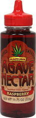 Organic Raspberry Agave Nectar <p><strong>From the Manufacturer's Label:  </strong></p><p>Madhava's Organic Raspberry Flavored Agave Nectar is a great way to add a touch of sweet delicious flavor to pancakes and waffles. The taste will tempt you to discover many other uses to enjoy the full flavor with too, as a topping or an ingredient. And, what's best is that you will only need a small amount of this flavorful sweetener for the taste you want, a little goes a