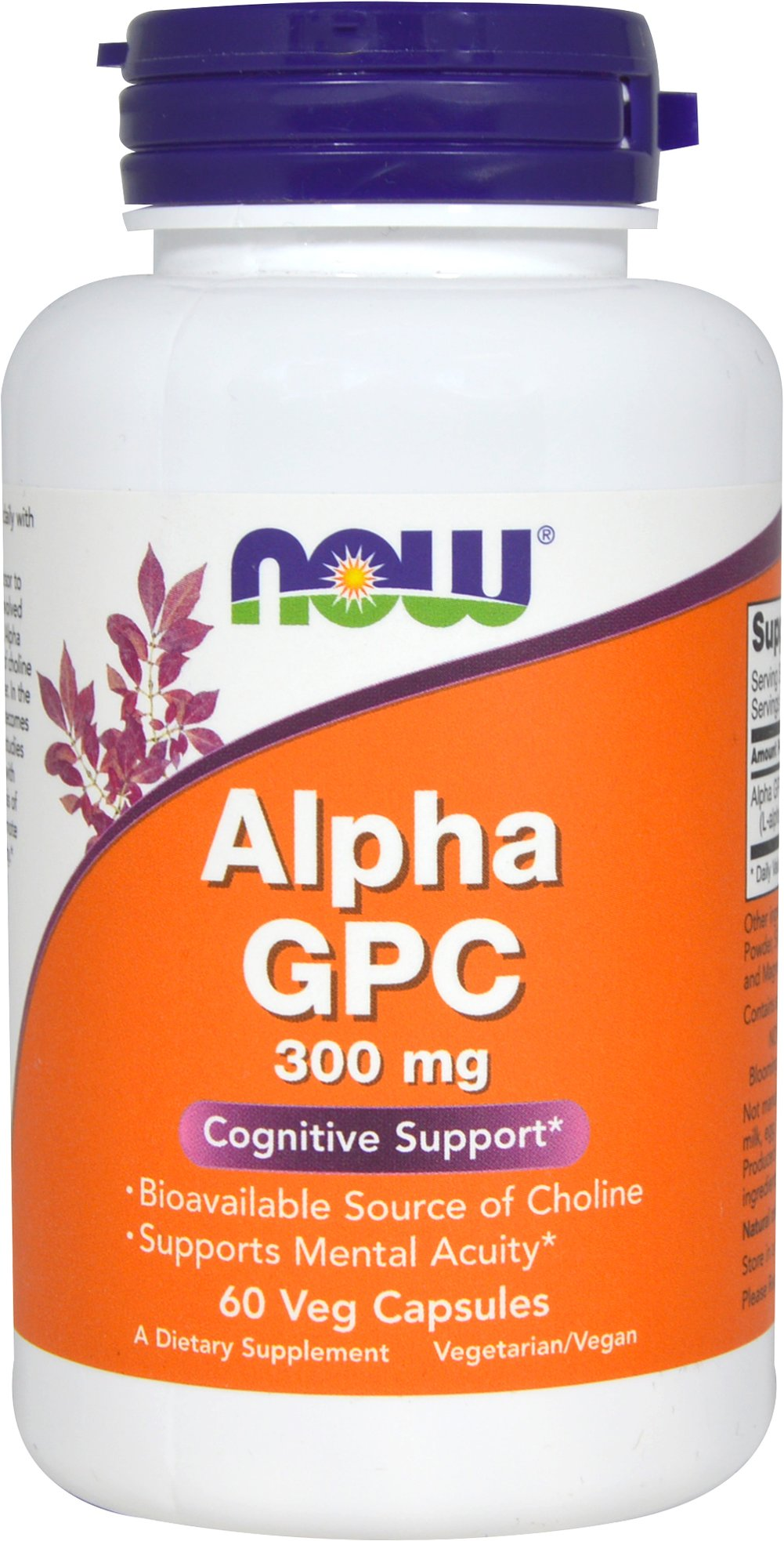 Alpha GPC 300 mg <p><strong>From the Manufacturer's Label</strong></p><p>Bioavailable source of Choline</p><p>Supports Brain Function**</p><p>Alpha GPC is a natural physiological precursor to acetyl-choline, a neurotransmitter that is involved in memory and other cognitive functions. **  Alpha GPC is more bioavailable than other forms of choline.  In the brain and other neural tissues, Alph GPC becomes a constituent of cell membranes.  Su
