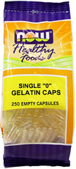 Single 0 Empty Gelatin Capsules  <p><b>From the Manufacturer's Label:</b></p>  <p>Our Kosher and Halal vendor certified empty gelatin capsules offer an economical and convenient way to take strong tasting vitamin or herb powders.  Empty capsules allow you to fill your own powders at desired potencies and avoid tablet binders and fillers.  Buying powdered vitamins and filling your own capsules can save up to 50% off most retails prices.</p>   <p>Our &