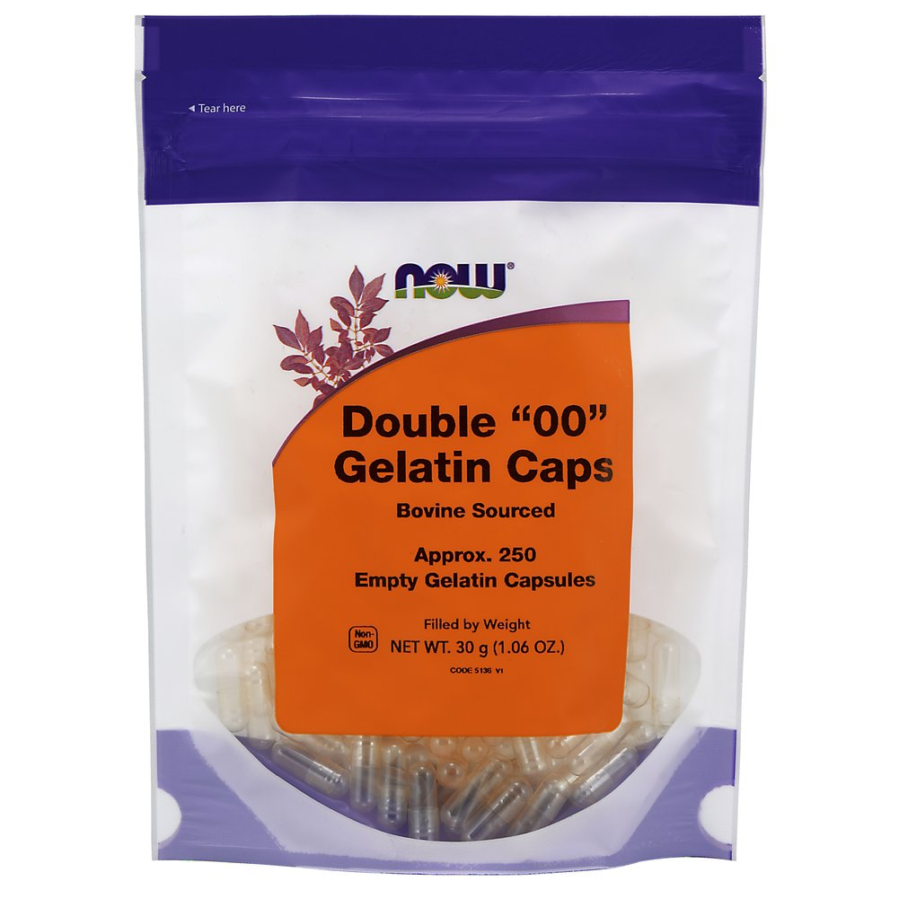 Double 00 Empty Gelatin Capsules <p><b>From the Manufacturer's Label:</b></p>  <p>Our Kosher and Halal vendor certified empty gelatin capsules offer an economical and convenient way to take strong tasting vitamin or herb powders.  Empty capsules allow you to fill your own powders at desired potencies and avoid tablet binders and fillers.  Buying powdered vitamins and filling your own capsules can save up to 50% off most retails prices.</p>   <p>Our ""