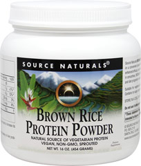 Brown Rice Protein Powder <p><b>From the Manufacturer's Label:</b></p> <p>Brown Rice Protein Powder is manufactured by Source Naturals.</p> 16 oz Powder  $8.49