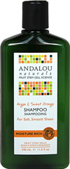 Andalou Sweet Orange & Argan Moisture Rich Shampoo <p><strong>From the Manufacturer's Label:</strong></p><p><strong>Moisture Rich</strong></p><p><strong>Benefits Dry, Curly Textured Hair</strong></p><p>Sweet orange revitalizes follicles. Omega rich Argan oil deeply penetrates each strand, restoring moisture, elasticity and strength, minimizing split ends and frizz with amazing luster and shine.</p><p&g
