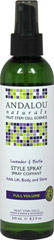 Andalou Lavender & Biotin Full Volume Style Spray <p><b>From the Manufacturer's Label:</b></p> <p><b>Full Volume</b></p> <p><b>Benefits Fine, Limp, Thin Hair</b></p>   <p>Lavender gently refreshes, stimulating follicles and circulation. Biotin B-complex infuses essential protein for thicker, fuller strands, improved strength, texture and manageability for maximum volume and silky sheen.</p>   <p>And