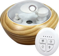 Ultrasonic Nebulizer Naturamist Diffuser <strong></strong><p><strong>From the Manufacturer: </strong></p><p>The Naturamist Ultrasonic Nebulizer is the most technologically advanced home fragrance diffuser.</p><p>• Safe • Quiet •Effective</p><p>• New remote control with touch sensitive buttons</p><p>• 360º multi-directional one piece cover and nozzle</p><p>• Low level LED lights, create relaxing ambient