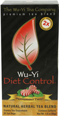 Wu-Yi Diet Control Peppermint Twist Tea <p><strong>From the Manufacturer's Label:</strong></p><p>Wu-Yi Diet Control Peppermint Twist tea contains ingredients Polyphenols and Garcinia Cambogia that have amazing benefits. Reach for a cup of delicious peppermint flavored Wu-Yi tea before meals to help you get started on a great path of well being!<br /></p><p><strong></strong></p> 25 Tea Bags  $11.99