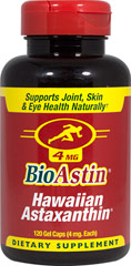 BioAstin® Hawaiian Astaxanthin 4 mg <p><strong>From the Manufacturer's Label:</strong></p><p>BioAstin® Natural Astaxanthin is known as Nature's strongest antioxidant and more! Supports joint functions, skin health, eye health, and cardiovascular health.<br /></p> 120 Gel Caps 4 mg $27.99