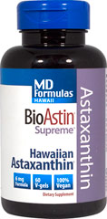 BioAstin® Supreme Astaxanthin 6 mg <p><strong>From the Manufacturer's Label:</strong></p><p>BioAstin® Supreme Astaxanthin 6 mg is manufactured by Nutrex.</p> 60 Softgels 6 mg $19.49