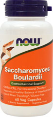 Saccharomyces Boulardii 5 Billion CFU <p>Saccharomyces boulardii is a probiotic yeast that survives stomach acid and colonizes the intestinal tract. It promotes the health of the intestinal tract, helps to encourage a healthy gut flora balance.**  Saccharomyces boulardii has also been shown to support proper gastrointestinal function during a disruption to the normal balance of gut flora.** </p><p>Manufactured by Now Foods.</p> 60 Vegi Caps 5 billion $10.99
