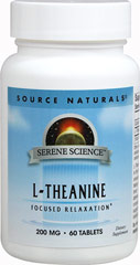L-Theanine with Calcium 200 mg  60 Tablets 200 mg $15.99