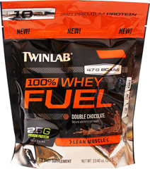 100% Whey Protein Fuel Double Chocolate <p><strong>From the Manufacturer's Label:</strong></p><p>100% Whey Protein Fuel is manufactured by Twinlab. Available in Vanilla Slam, Double Chocolate & Cookies & Cream flavors.</p> 13.4 oz Powder