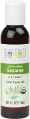 Organic Sesame Oil <strong></strong><p><strong>From the Manufacturer: </strong></p><p>Certified Organic, this oil is softening and protecting. A natural source of vitamin B plus skin-nourishing plant oil.</p> 4 oz Oil  $12.99