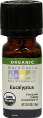 "Organic Eucalyptus Oil <b><p> From the Manufacturer: </b></p><p>Known as ""The King of Eucalyptus"" in Australia, eucalyptus radiata offers a softer, more well-rounded cleansing aroma than eucalyptus globulus.</p>  0.25 oz Oil  $12.99"
