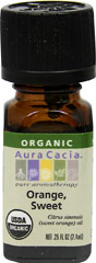 Organic Sweet Orange Oil <b><p> From the Manufacturer: </b></p><p>The familiar orange scent makes this one of the world's most popular oils and the heart of many floral blends. Sweet orange's gentle, clarifying nature cheers the heart and brightens the mood. Diffuse it often to maintain a wholesome, positively charged atmosphere. Expressed from the fresh fruit.</p> 0.33 oz Oil  $9.99