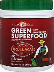 Green SuperFood® Drink Powder Berry <strong></strong><p><strong>From the Manufacturer's Label:</strong></p><p>Berry Green Superfood is distributed by Amazing Grass</p> 8.5 oz Powder  $22.49