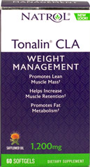 Tonalin CLA 1200 mg <p>From the Manufacturer's Label:</p><p>The Power is in the Flower</p><p>With Safflower Oil</p><p>Manufactured by Natrol</p><p></p> 60 Softgels 1200 mg $11.49