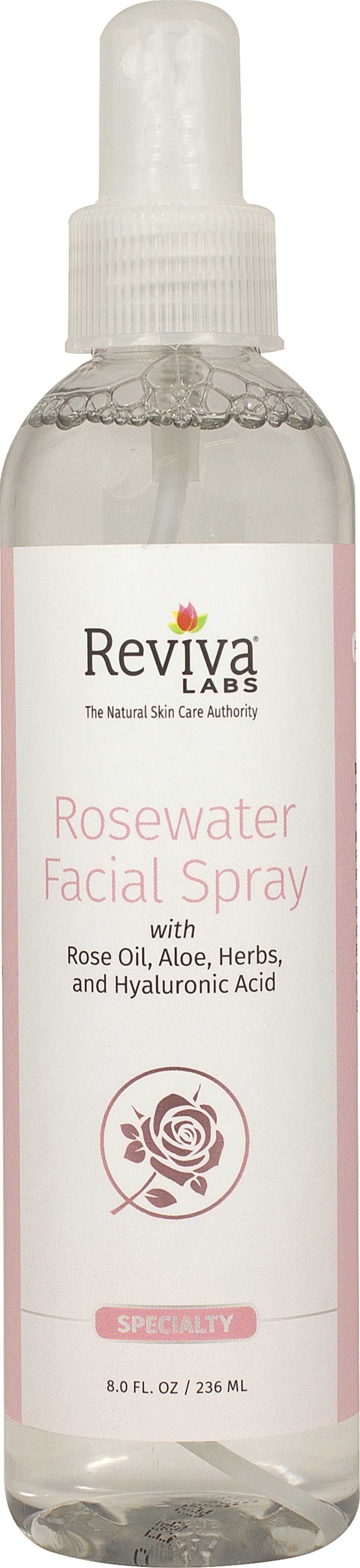 Rosewater Facial Spray <p><strong>From the Manufacturer's Label</strong></p><p>Rosewater Facial Spray is manufactured by Reviva® Labs.</p><p>- No Animal Ingredients</p><p>- No Animal Testing</p> 8 oz Spray  $6.99